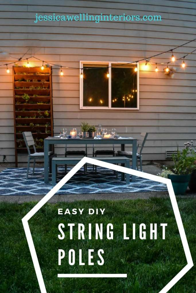 String Light Pole Interesting Easy DIY String Light Poles Jessica Welling Interiors