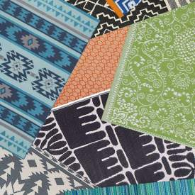 These affordable waterproof outdoor rugs are perfect for your porch, patio, and deck. They'll liven up your outdoor living space with beautiful color and patterns!
