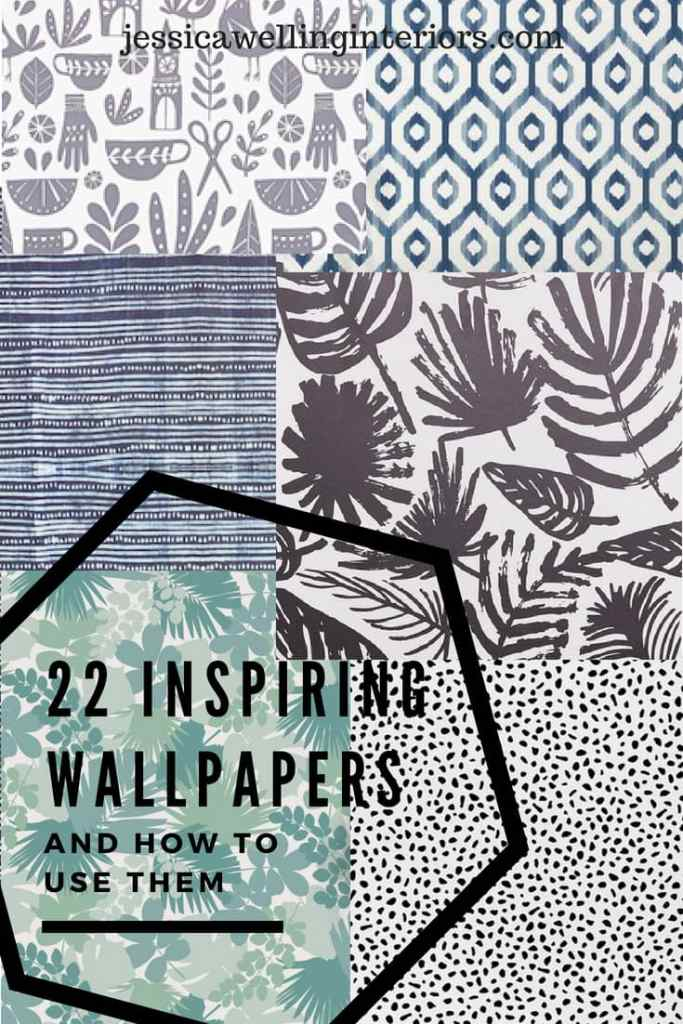collage of wWallpaper is back! I'll show you how to use it on accent walls and small projects to make a big impact in your home! The best part? Most of these are removable wallpaper!allpapers