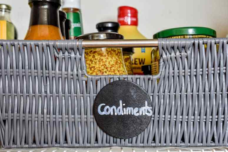 photo of pantry with condiments basket