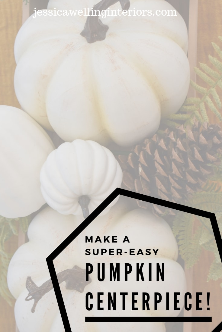 photo of easy white pumpkin centerpiece Fall decor