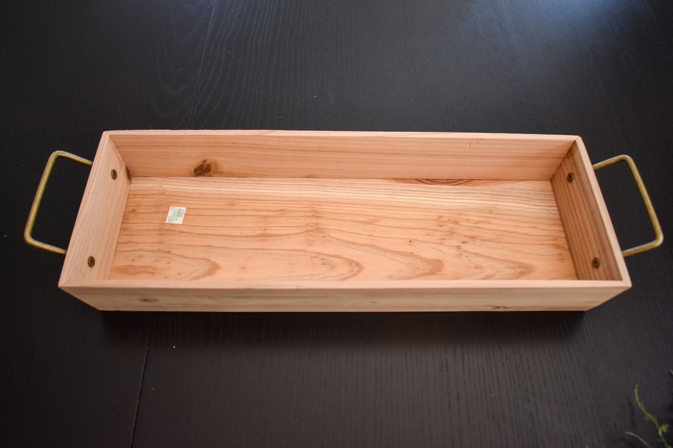 photo of wood tray for pumpkin centerpiece