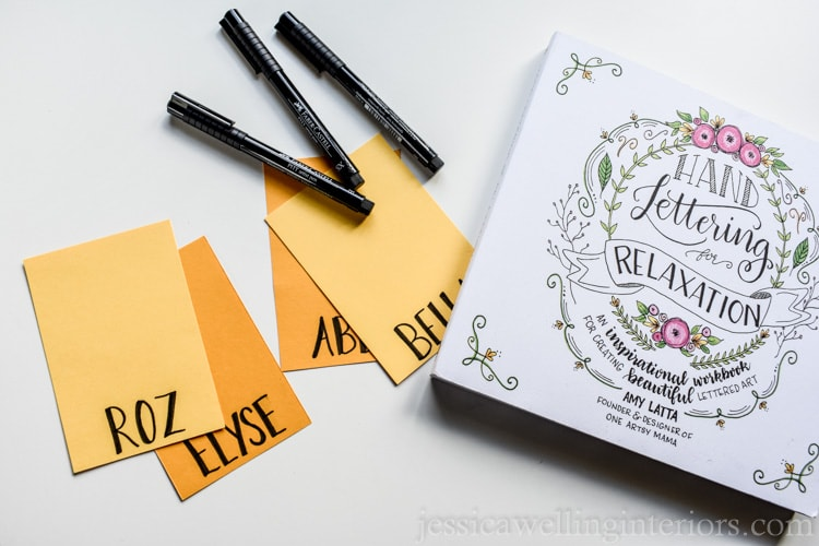 image of Hand Lettering for Relaxation and Faber Castell pens