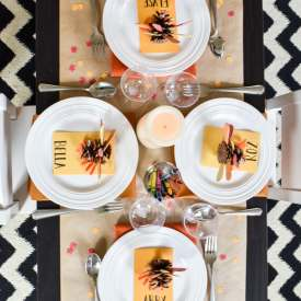Set a Super-Fun Thanksgiving Kids Table!
