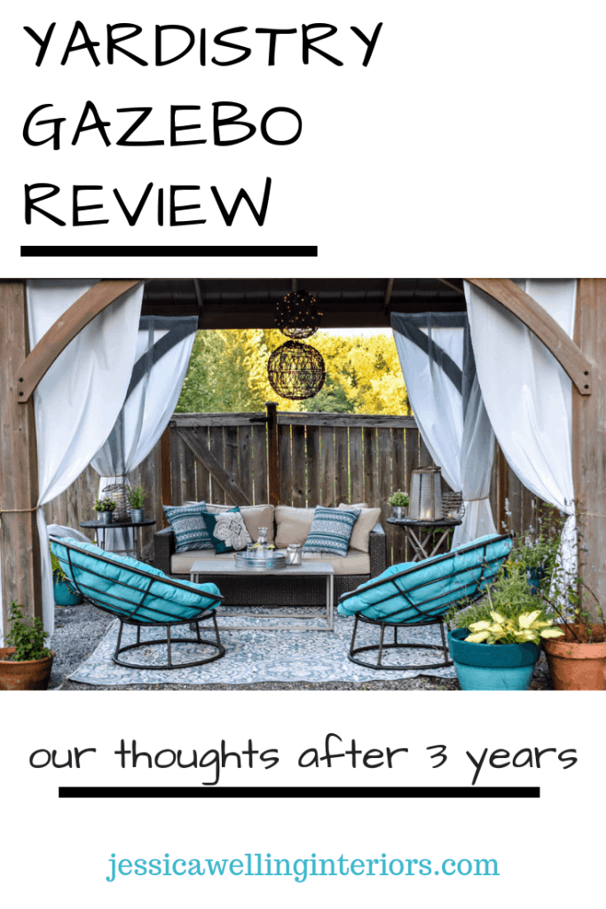 Interested in the beautiful cedar gazebo at Costco? We've had ours for two years and love it! Check out my full review here!