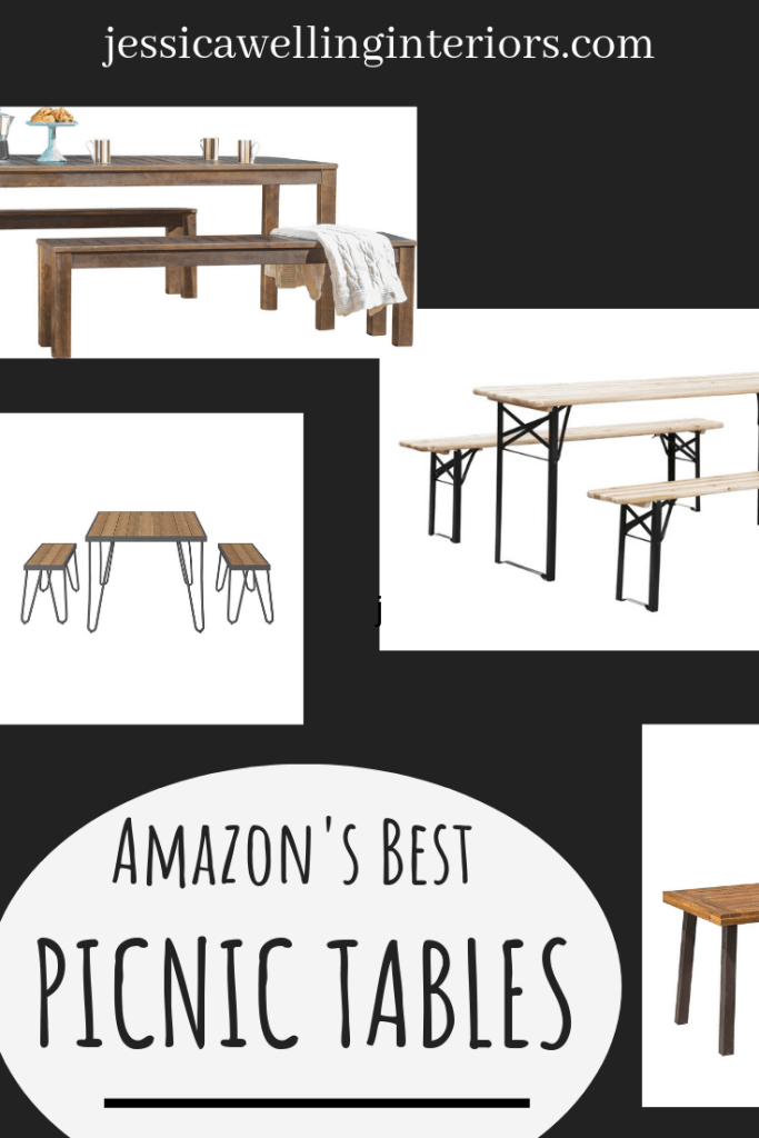 Does your patio need some new outdoor dining furniture? These stylish and budget-friendly picnic tables are the perfect addition to your outdoor dining room! You can even mix and match chairs and benches.
