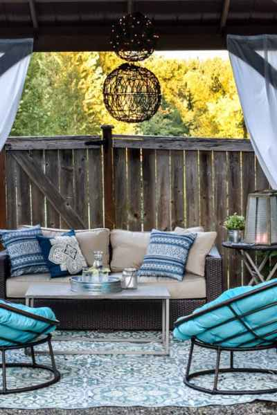 gazebo patio shade idea with outdoor living room