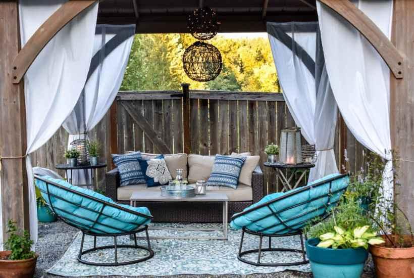gazebo patio shade idea with outdoor living room