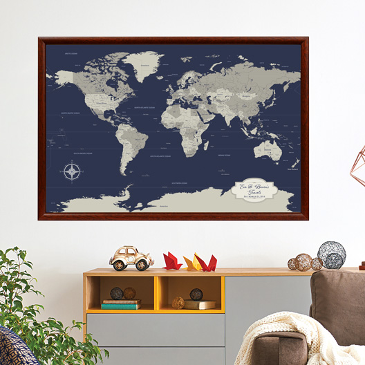 Cotton anniversary push pin world map multiple color options cotton anniversary publicscrutiny Images