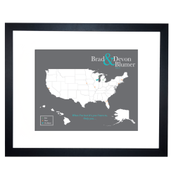 Cork Map Of The United States Cork Board Map With Map Pins - Us map of states cork poster