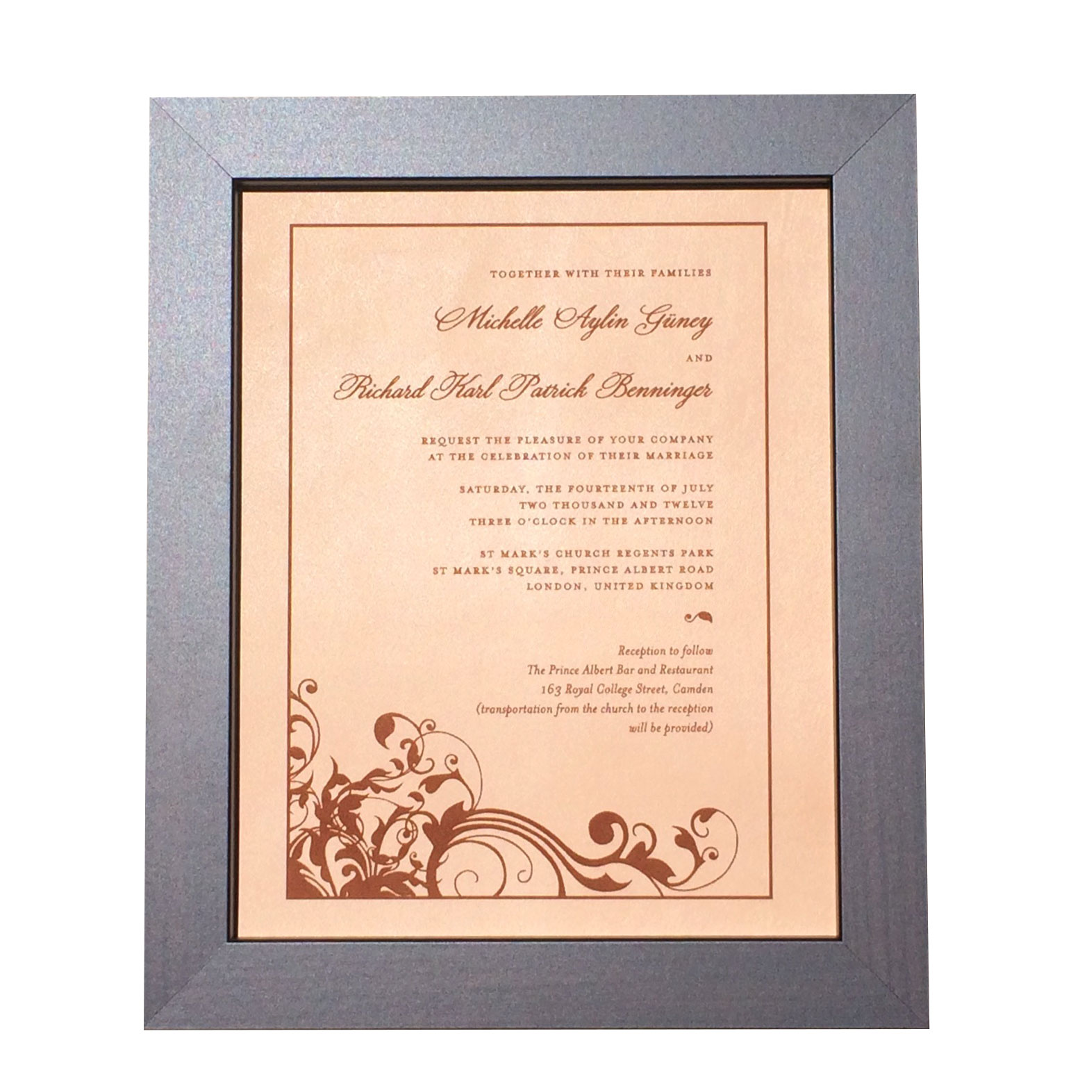 Leather Photo Engraved Wedding Invitation ...