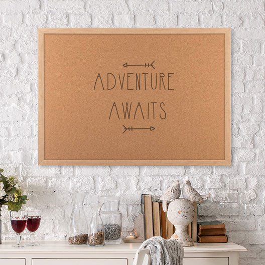 Adventure awaits cork board and life planner dorm room decor