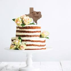 state-cake-topper-rustic-wedding-country-theme-wood-cake-topper