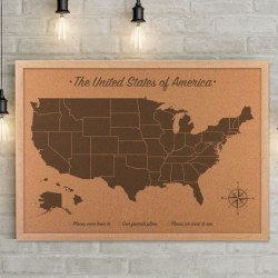 Push Pin Travel Maps By Jessica Wilkeson Design Studio - Us map of states cork poster