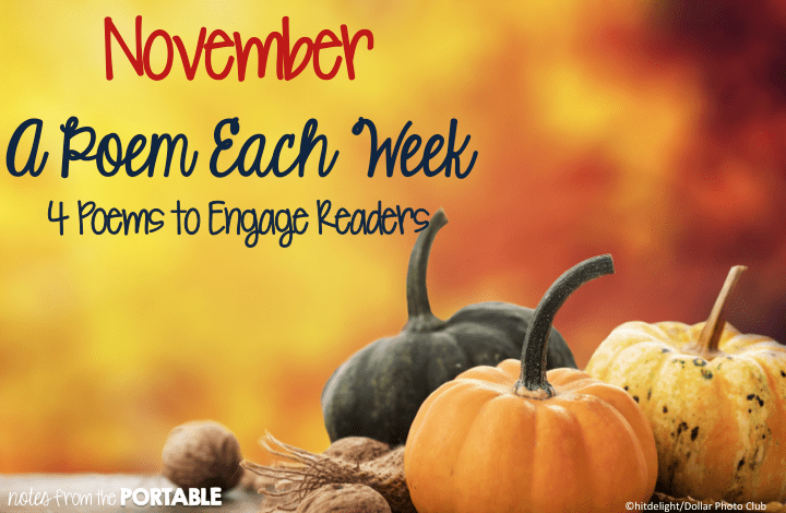 November A Poem Each Week. 4 Poems to Celebrate November. FREE questions and activities. 4 November Poems