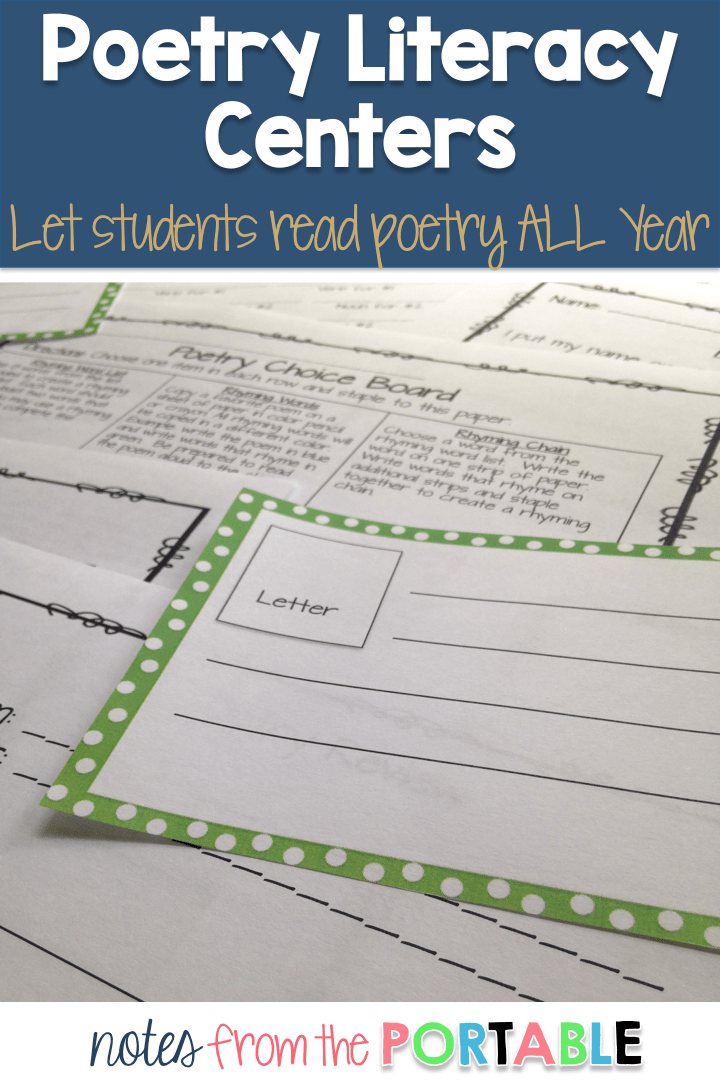Poetry Literacy Centers to engage learners