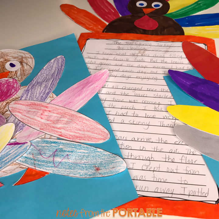 FREE Turkey for bulletin boards, writing, and preschool art activities.