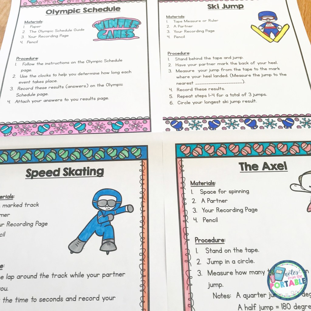 Looking for a way to celebrate the Winter Olympics? Try these fun winter games measurement style. 12 games with graphing. My student loved this!