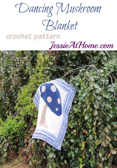 Vintage Style Crochet Afghan - Dancing Mushroom Blanket Pattern by Jessie At Home