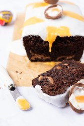Creme Egg Chocolate Loaf Cake