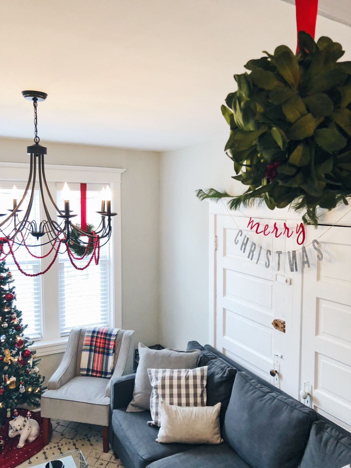 Our Living Room Christmas Decor - Jessie Barnes Bernhardt