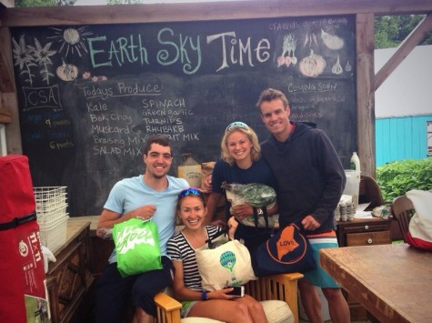Ben, Soph, Me and Simi picking up fresh good food from the Earth Sky Time CSA