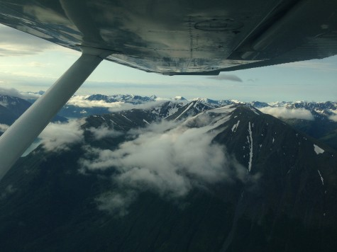 It was fun to see the mountains poking up through the clouds
