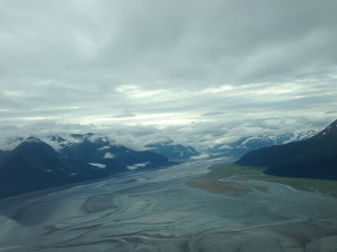 Looking down on Turnagain Arm at low tide