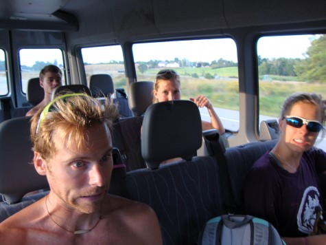 On our way to surf in Maine...first year of SMST2 team