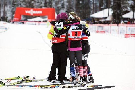 Our first relay team podium, in Gallivare (photo by USSA)
