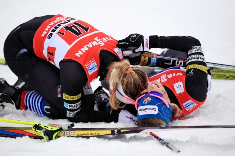 Kik and I after the 2013 WC Team Sprint (photo by USSA)