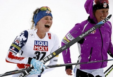 Headed to the leader's chair! (photo from Salomon Nordic)