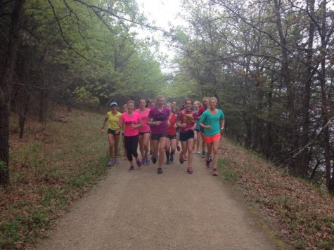 On a run in the Afton state park (photo from Caitlin)