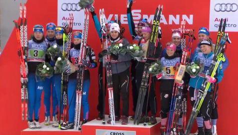 On the podium with Norway and Finland!