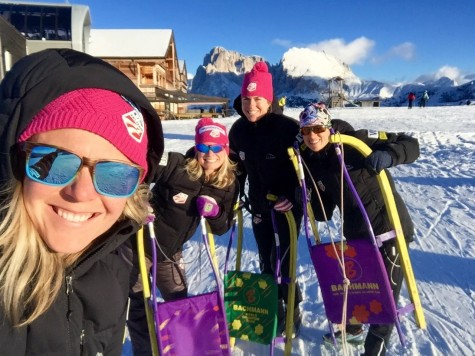 Sadie, me, Rosie and Liz out for a sled down the mountain! (photo from Sadie)