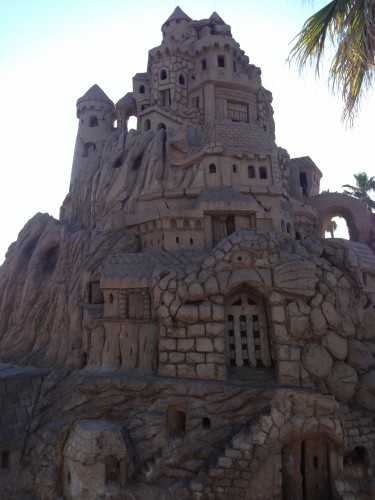 A huge, huge sandcastle!