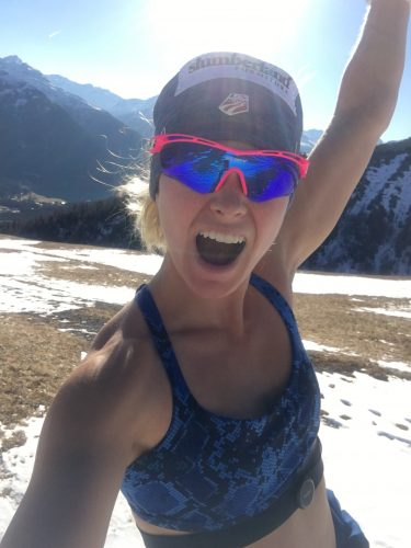 SUNSHINE! Happy to be super warm in the Swiss mountains!