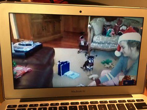 I had a really nice Skype with my family on Christmas!
