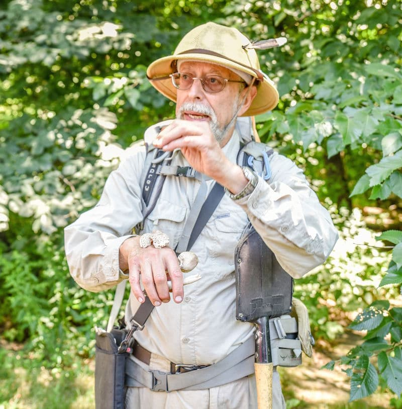foraging in central park with Steve Brill