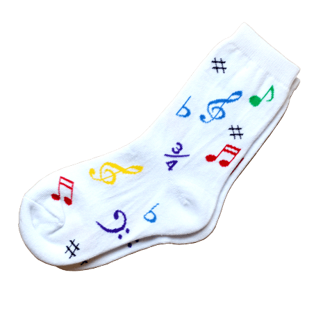 Music symbol socks