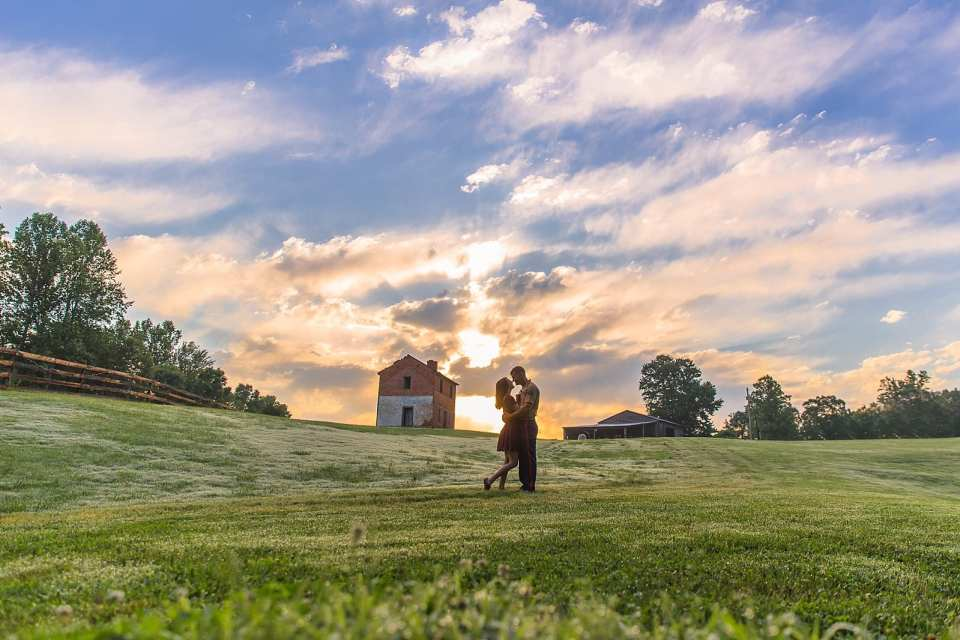winston salem sunset wedding photographer
