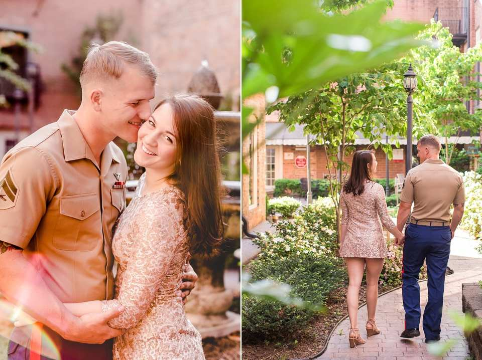downtown kernersville engagement