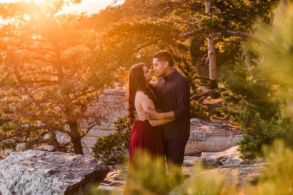 Pilot Mountain Engagement Winston Salem Wedding Photographer