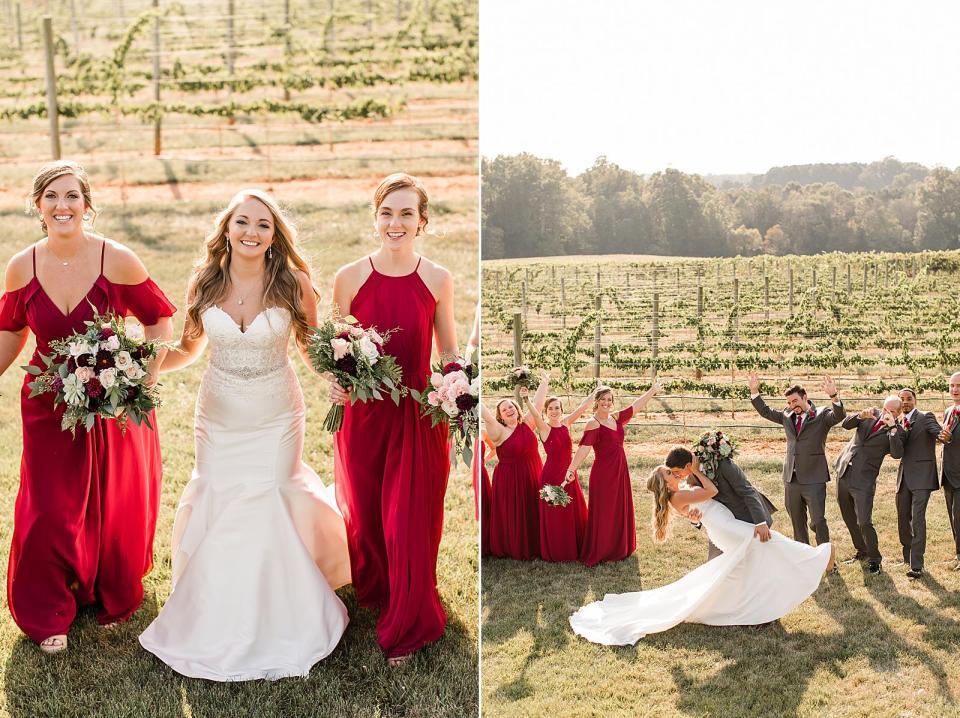 Childress Vineyards Wedding Lexington North Carolina