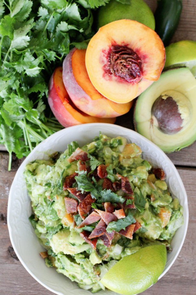 Grilled Peach and Bacon Guacamole: Jessi's Kitchen