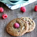 Chocolate Chip Raspberry Cookies {Grain free}