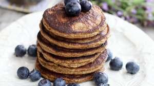 Gluten Free Earl Grey Blueberry Pancakes