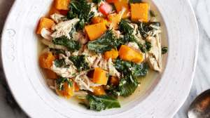 Chicken, Kale and Butternut Soup