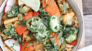 Vegetable Red Thai Curry Bowls