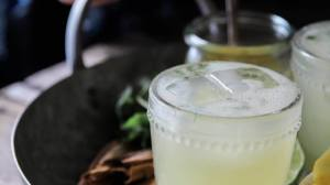 Spiced Pineapple and Cilantro Margaritas